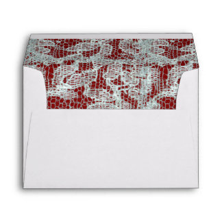 Lace and Red Homespun Liner Envelope