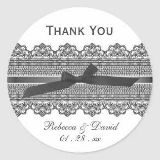 Lace and Ribbon favor stickers