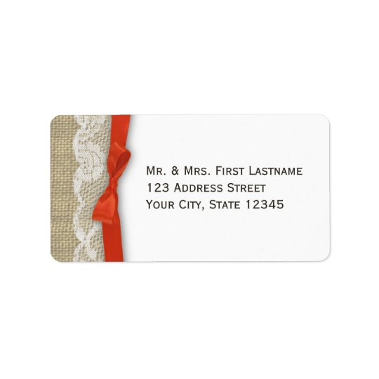 Lace and Ribbon Orange Label