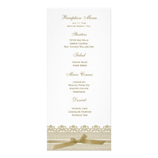 Lace and Ribbon RSVP cards Custom Rack Cards