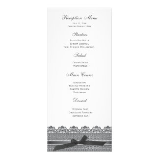 Lace and Ribbon RSVP cards Customized Rack Card