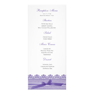 Lace and Ribbon RSVP cards Rack Card Template