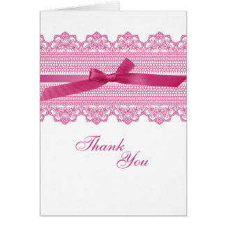 Lace and Ribbon Thank You cards