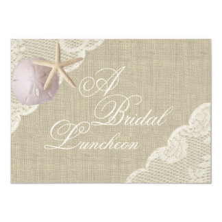 Lace and Starfish Bridal Luncheon Card