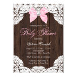 Lace and Wood Baby Shower Invitations
