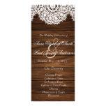 Lace and wood wedding program II
