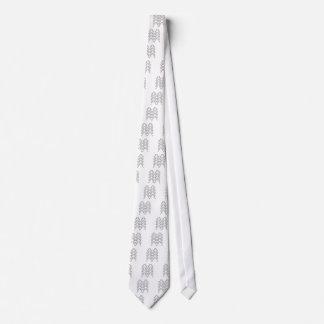 Lace black on white neck tie