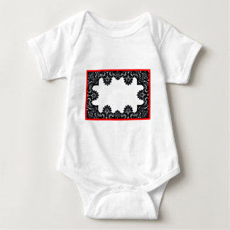 Lace Black & White Red Boarder The MUSEUM Zazzle G Baby Bodysuit