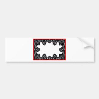 Lace Black White Red Boarder The MUSEUM Zazzle G Bumper Sticker
