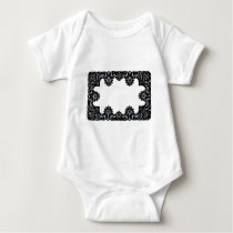 Lace Black & White The MUSEUM Zazzle Gifts Baby Bodysuit