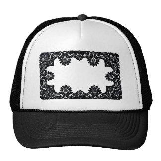 Lace Black & White The MUSEUM Zazzle Gifts Mesh Hats