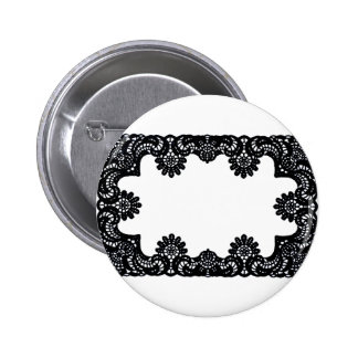 Lace Black & White The MUSEUM Zazzle Gifts Pinback Button