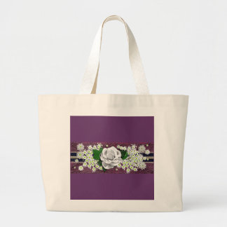 lace bouquet canvas bag