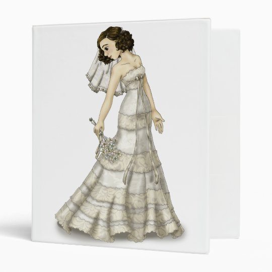 Lace Bride 3 Ring Binder