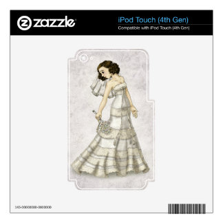 Lace Bride Decals For iPod Touch 4G