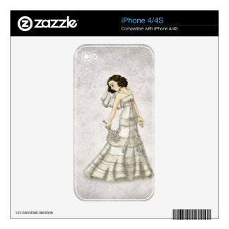 Lace Bride iPhone 4S Decals