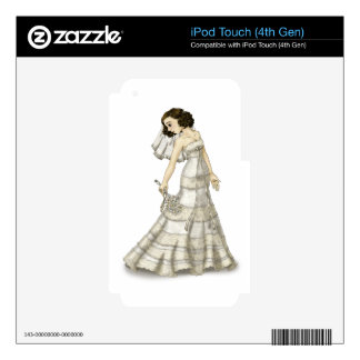 Lace Bride iPod Touch 4G Decals