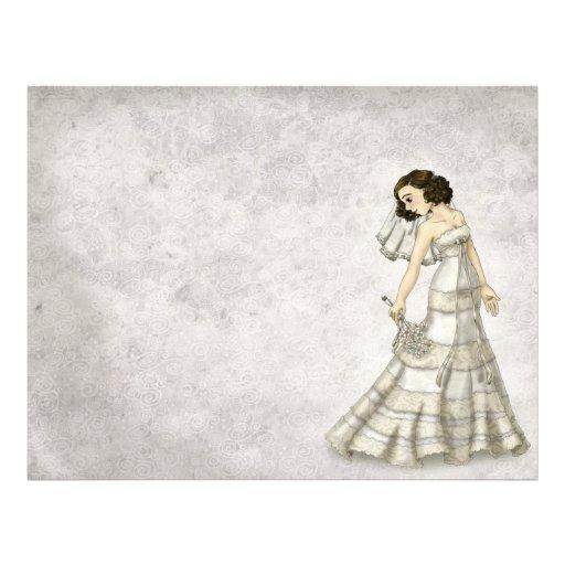 Lace Bride Custom Letterhead