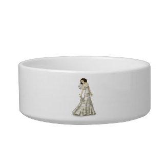 Lace Bride Cat Water Bowl