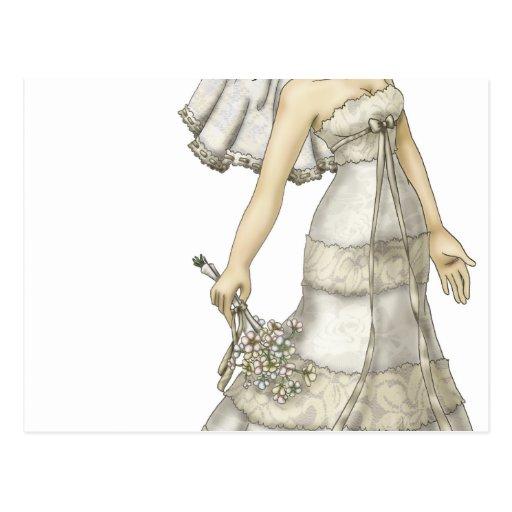 Lace Bride Postcard