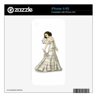 Lace Bride Skins For iPhone 4S