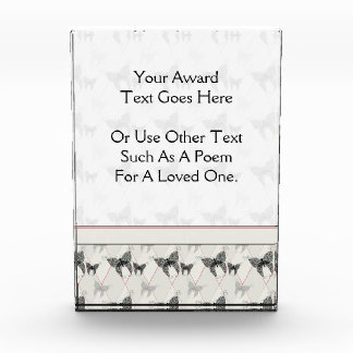 Lace Butterflies And Diamonds Pattern With Border Acrylic Award