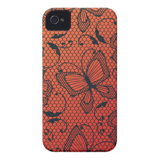 Lace butterfly and flower dance pattern iPhone 4 cover