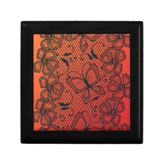Lace butterfly and flower dance pattern gift box