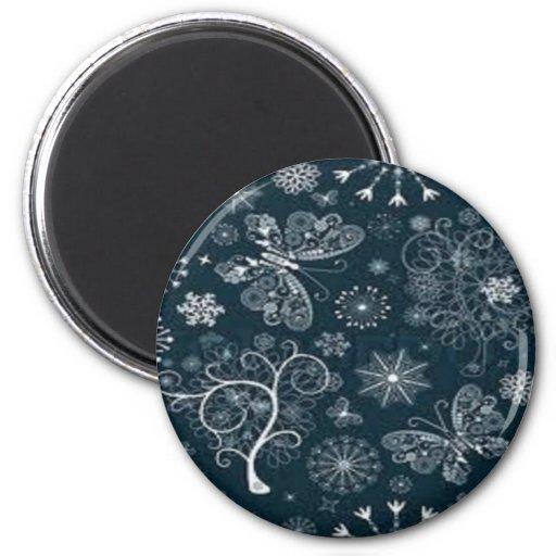 lace butterfly fridge magnet