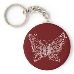 Lace Butterfly keychain