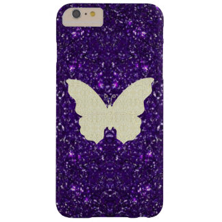Lace Butterfly On Purple Glitter iPhone 6 Case