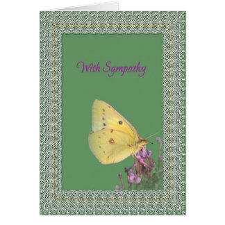 Lace Butterfly Sympathy Greeting Card