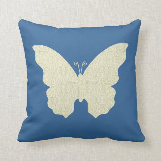 Lace Butterfly Throw Pillow