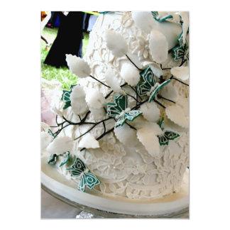 Lace cake invitation