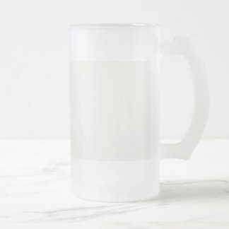 Lace Cap White in an English Country Garden Frosted Glass Beer Mug