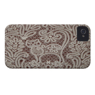 Lace Cat Art iPhone 4 Barely There Case iPhone 4 Case-Mate Case