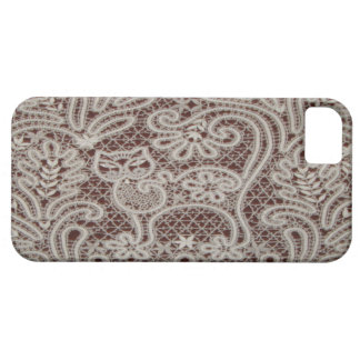 Lace Cat Art iPhone 5Barely There Case iPhone 5 Cases