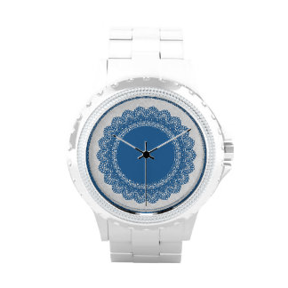 Lace Circles Custom Watch V03 BLUE LACE