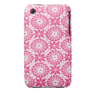 Lace Circles iPhone 3 Case French Rose Pink