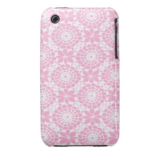 Lace Circles iPhone 3 Case Lavender Pink