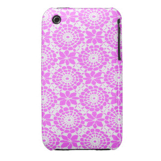 Lace Circles iPhone 3 Case Pink