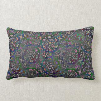 Lace Circles Lumbar Pillow Rich Pastel