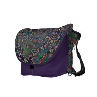 Lace Circles Messenger Bag in Rich Pastels