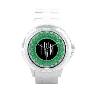 Lace Circles Monogram GREEN LACE V10 Wrist Watches