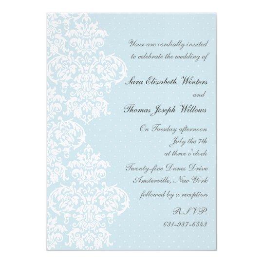 Wedding Invitations Cover: Lace Cover Blue Wedding Invitation