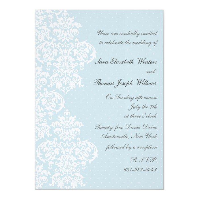 lace cover blue wedding invitation zazzle With lace cover wedding invitations
