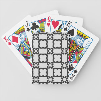 Lace curtain texture bicycle playing cards