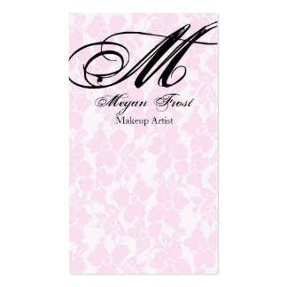 lace customize your monogram Double-Sided standard business cards (Pack of 100)