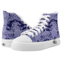 Lace Denim Blues Shooz High-Top Sneakers