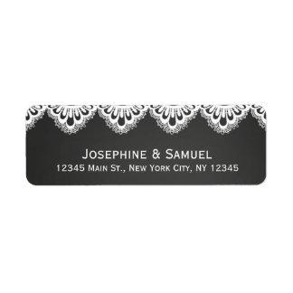 Lace Doily Chalkboard Wedding Address Label